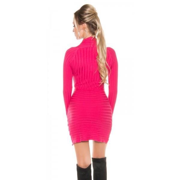 Obleka s spuščenim ovratnikom, več barv