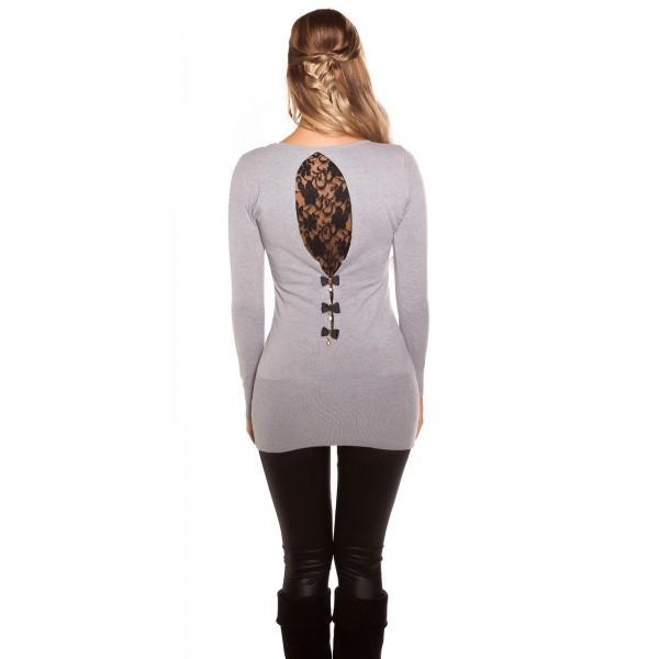 Puloverček Black lace, več barv