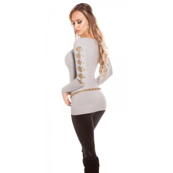 Daljši pulover Sofi, siv