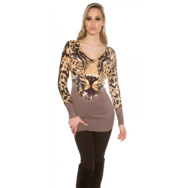 Dolg pulover Tiger, več barv