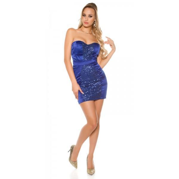 Obleka Lorela, kraljevsko modra, velikost S