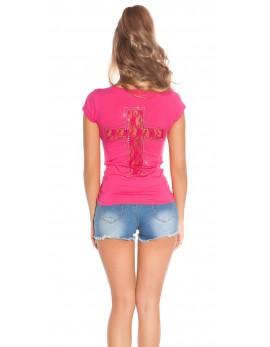 Majica T-shirt, križ na hrbtu