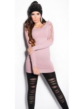 Dolg pulover Mina, več barv
