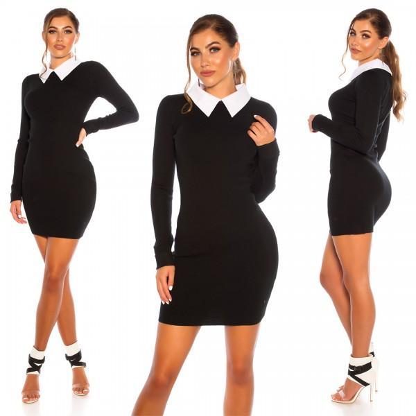Oblekica Collar, črna