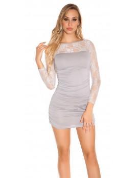 kratka oblekica Cute, siva