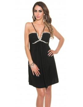 Poletna lahkotna obleka črna