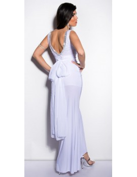 Obleka Tejanka, bela