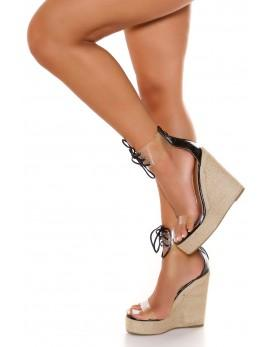 Sandali z visokim podplatom