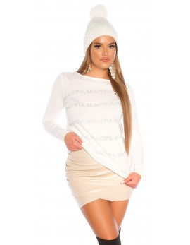Majica Beautiful, bela ali roza