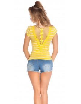 Majica T-shirt Rumena črta