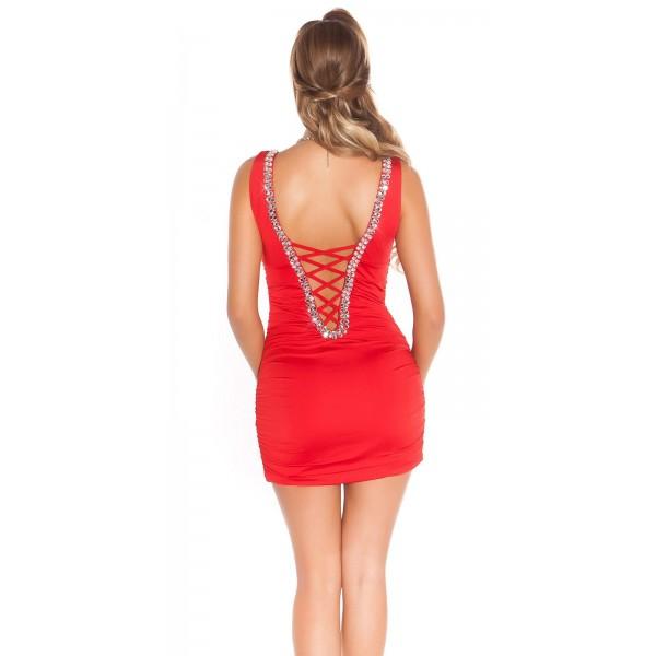 Rdeča mini obleka Megan