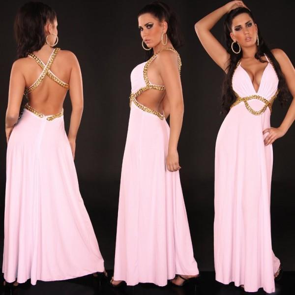 Dolga obleka Nina, roza