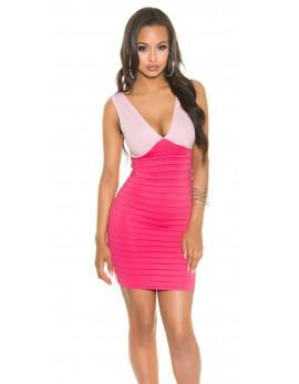 Poletna obleka Nives, roza