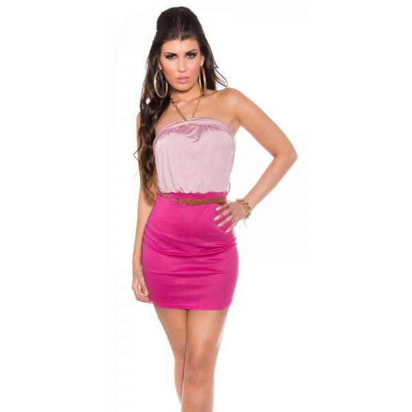 Poletna oblekica Mija, roza, velikost L