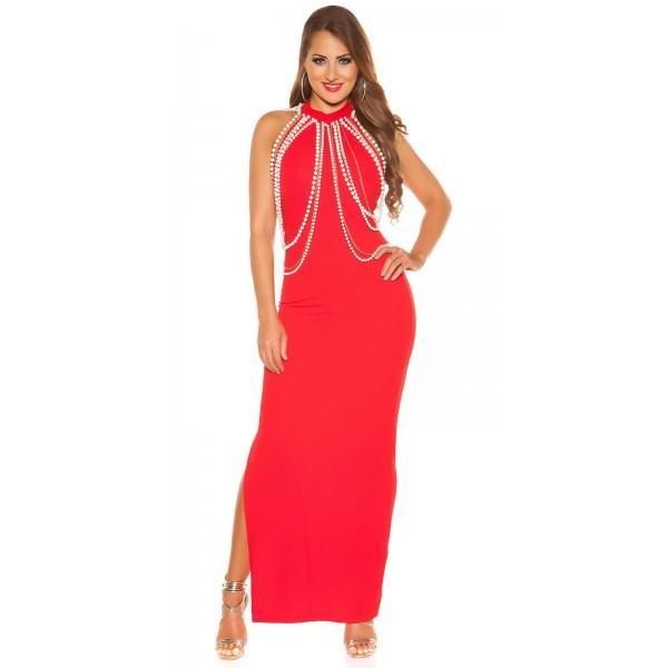 Večerna obleka Rachel, rdeča