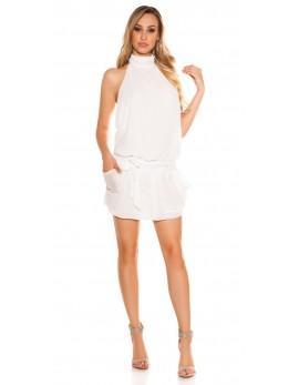 Poletna obleka White Shifon
