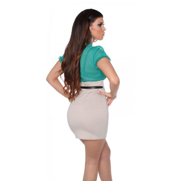 Poletna obleka Lana, safir-siva
