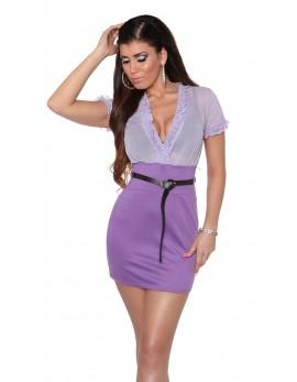 Poletna oblekica Lana, vijolična