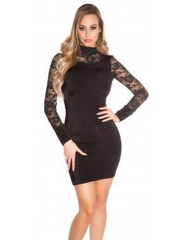 Mini obleka Black Lace