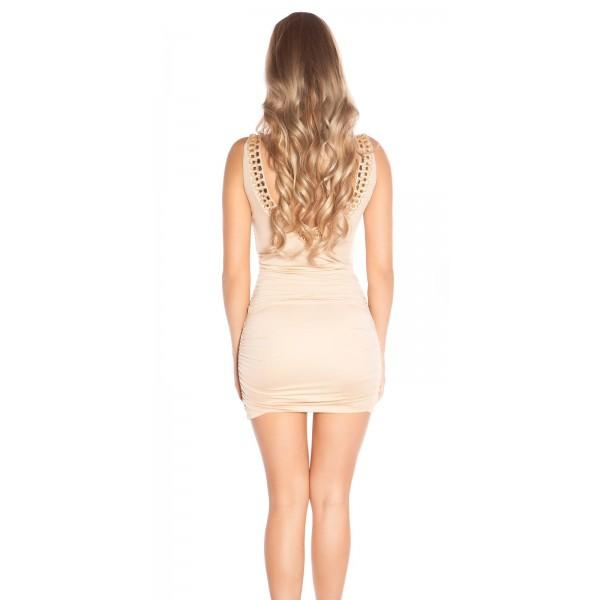 Obleka Katrina, bež, velikost S