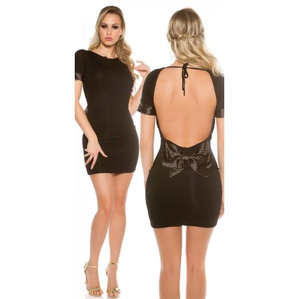 Mini obleka Doroteja, črna