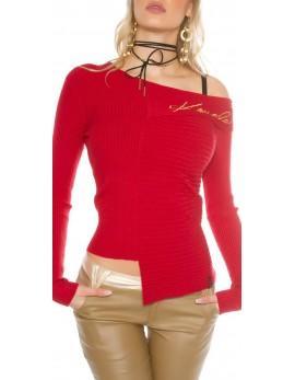 Asimetričen pulover Koucla, v 5 barvah