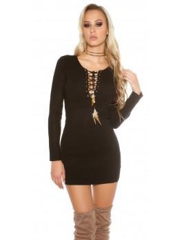 Oblekica Indiana, črna