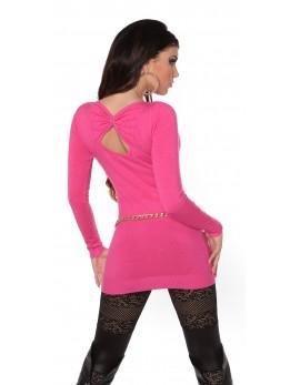 Daljši pulover Lovelija, pink