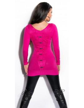 Dolg pulover Nives, več barv