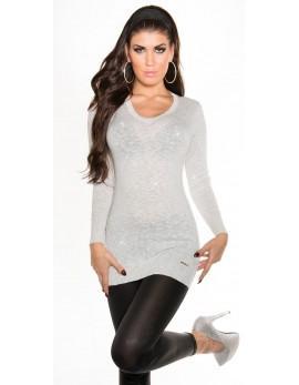 Svetlikajoč dolg pulover Vanja, več barv