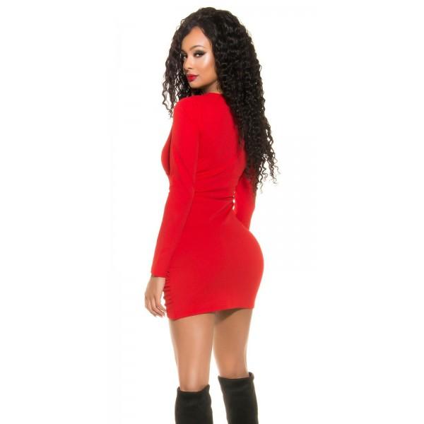 Obleka Anita, rdeča