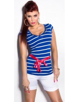 majica T-shirt silk belt, več barv