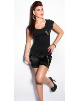 Majica T-shirt Tasha, črna