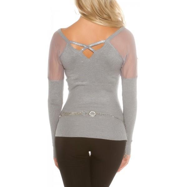 Siv pulover Mija