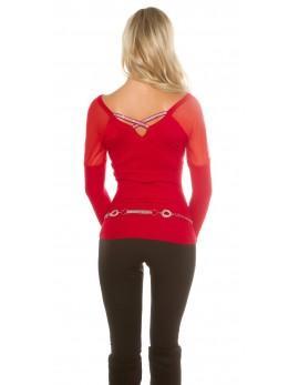 Rdeč pulover Mija