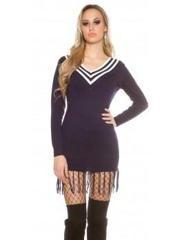 Dolg pulover Fringe, več barv