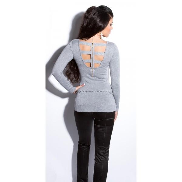 Svetlikajoči pulover Jasmina, več barv