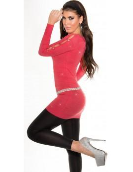 Dolg pulover Glitter, več barv