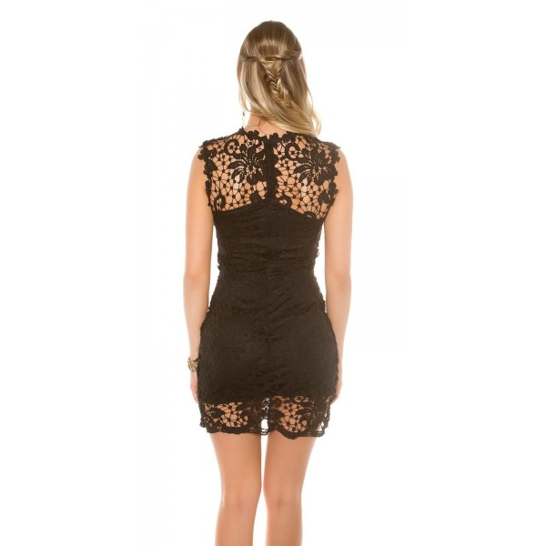 Obleka Sara, črna