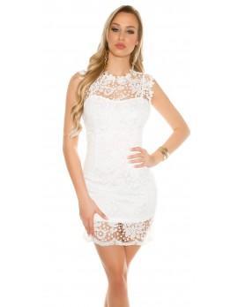 Obleka Sara, bela. velikost S