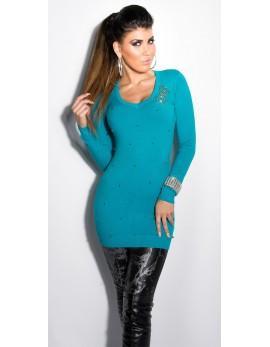 Dolg pulover Ksenija, več barv