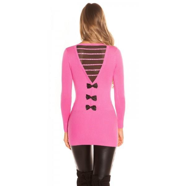 Daljši pulover Tri pentljice, več barv