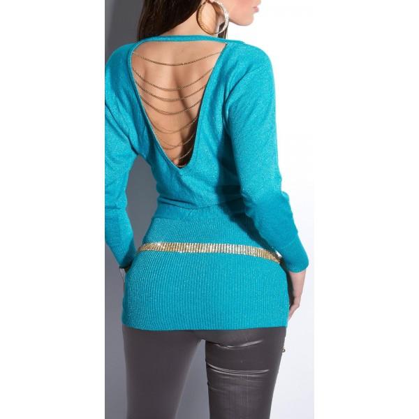 Svetlikajoč pulover Nevenia, več barv