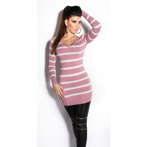 Daljši pulover Strips, več barv