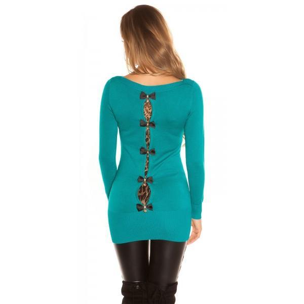 Daljši pulover več pentljic, več barv