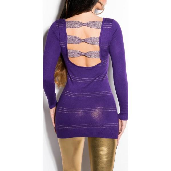 Daljši svetlikajoč pulover Barbara, več barv