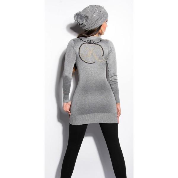 Daljši pulover z V izrezom Koucila, več barv