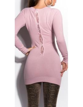 Dolg pulover Sanaja, več barv