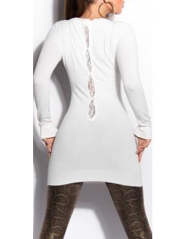 Dolg pulover Sanaja, bel