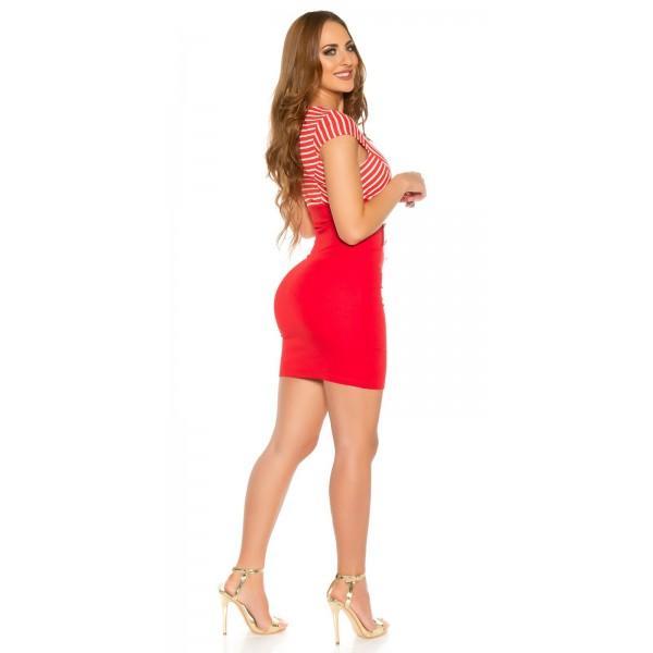 Poletna obleka Nastja, rdeča, velikost L